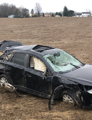 Tornado damage, Shelby OH, April 2019 (credit: NWS Cleveland).