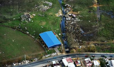 Hurricane Maria damage to Puerto Rico