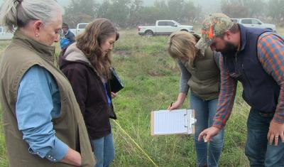 Soil for Water project field trip surveying grassland soils by Mike Morris