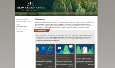 USDA Forest Service Climate Change Resource Center - Ed. Modules