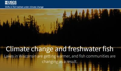 Climate change impacts to Wisconsin freshwater fish storymap
