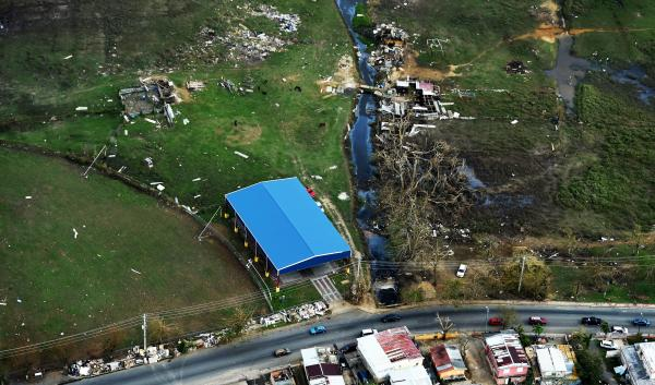 Hurricane Maria damage to Puerto Rico