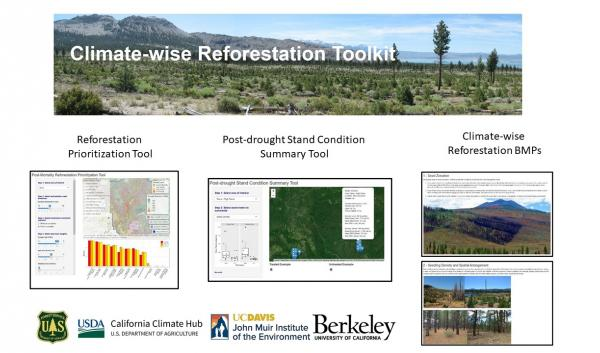 The toolkit has three (features): a prioritization tool, a drought stand condition tool and climate-wise BMPs.