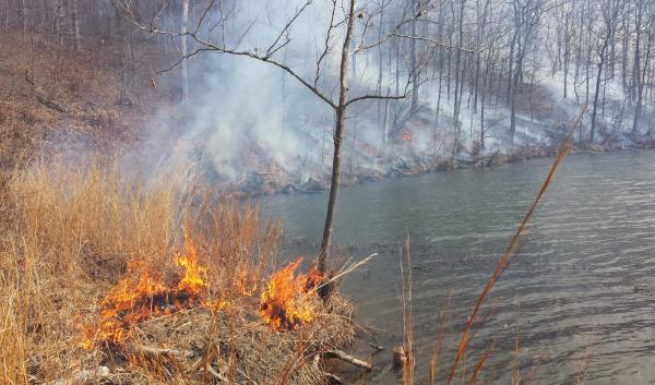 Prescribed burn on the Crab Orchard NWR