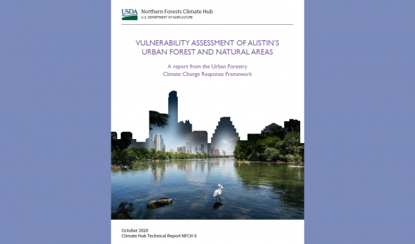 Cover of Austin Urban Forest Climate Vulnerability Assessment report