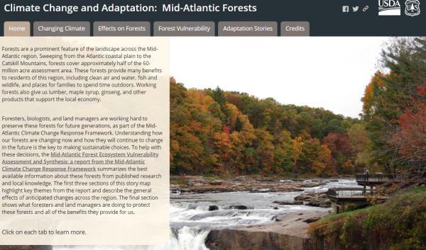 Mid-Atlantic USFS storymap screenshot