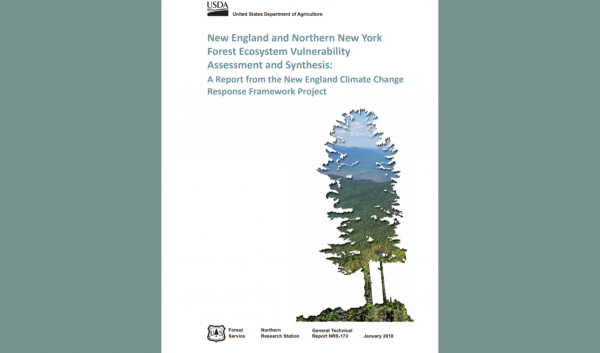 Publication assessing vulnerability of New England Forests