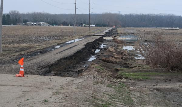 Omaha Flooding road washout
