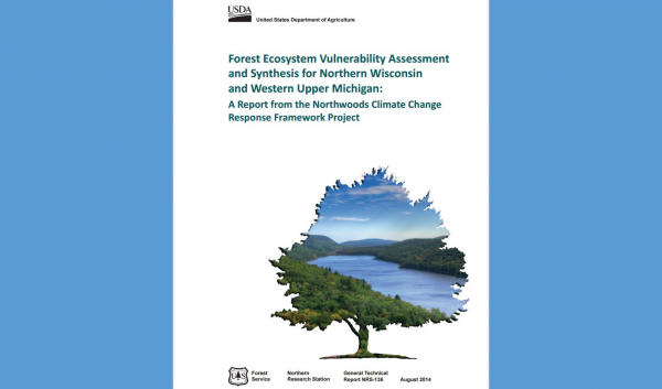 Publication assessing vulnerability of Northern WI and MI forests